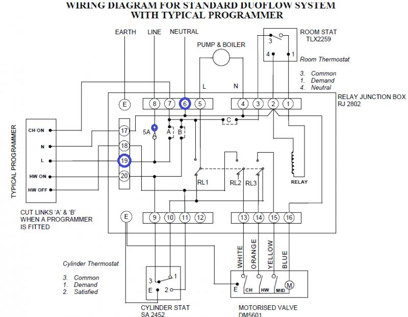 hive to old satchwell relay box question diynot forums relay switch diagram relay wiring diagram in a box #15