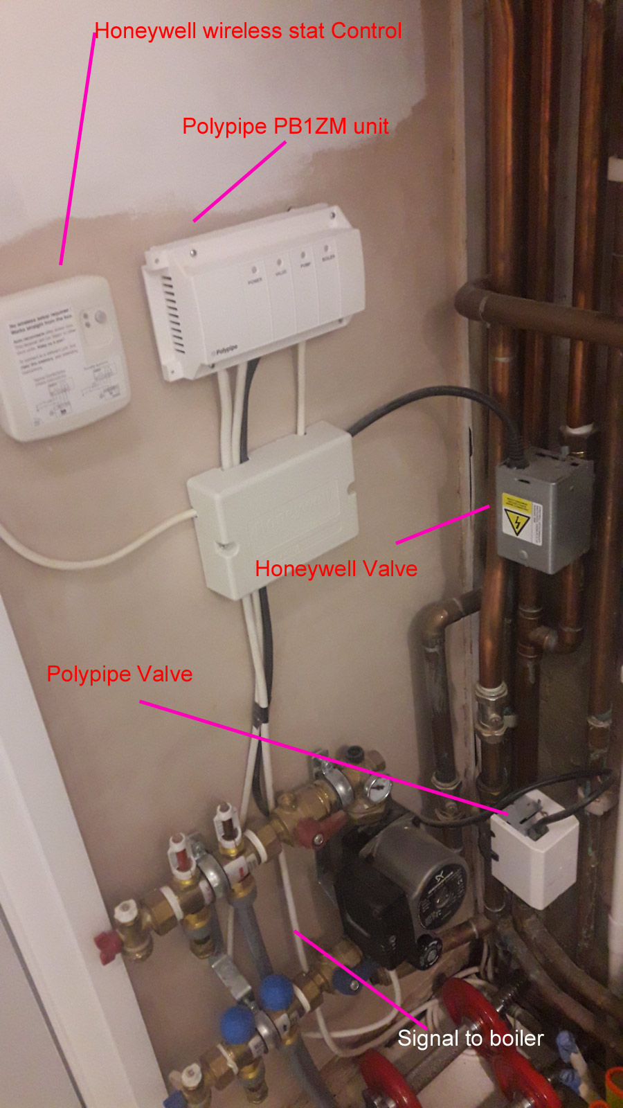 Combi with UFH / 2 valves but 1 Zone control | DIYnot Forums on boiler aquastat wiring, boiler installation diagram, boiler thermostat wiring, boiler water feeder wiring, boiler control wiring, williamson boiler wiring, with a boiler valves wiring, boiler pump wiring, boiler radiator heating system, heat zone valves wiring, boiler damper wiring, home boiler wiring, hot water boiler wiring, 3 zone valves wiring, boiler relay wiring diagram, boiler electrical wiring, taco circulator pump wiring,