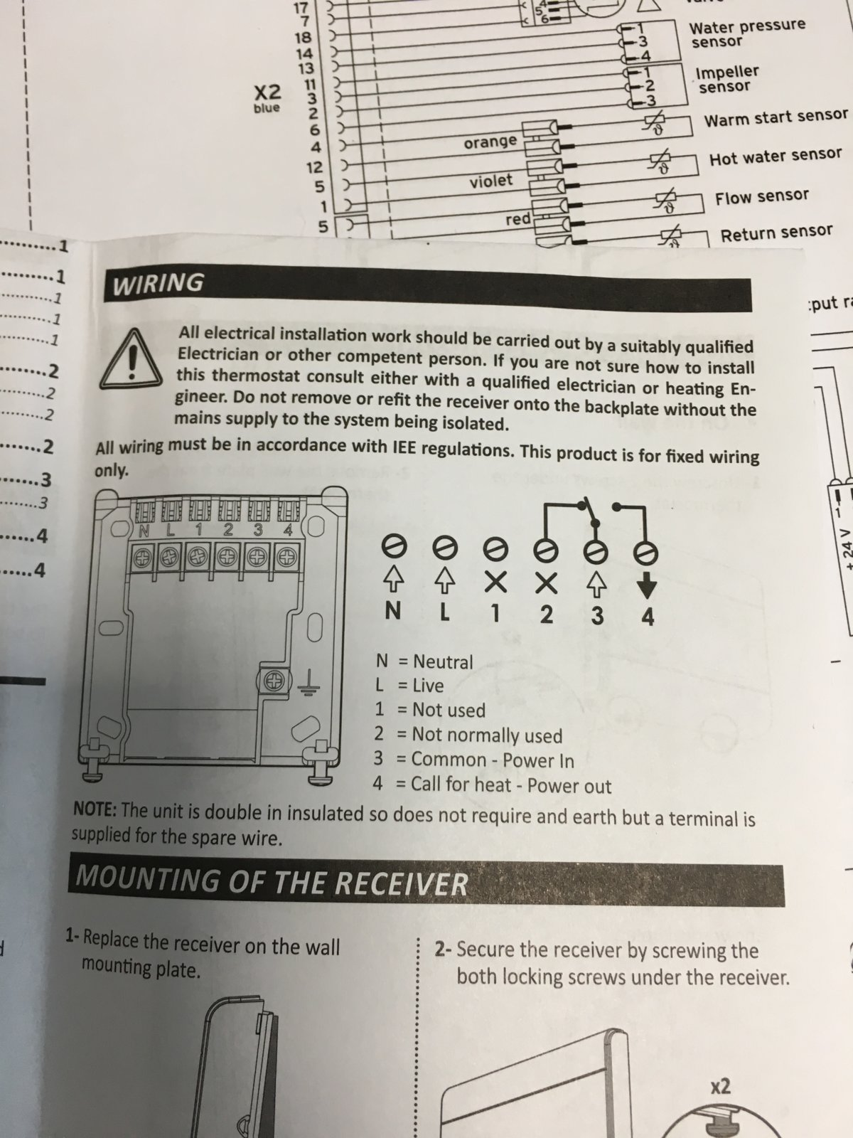 Thermostat Wiring Diagram X1 Manual | Wiring Liry on
