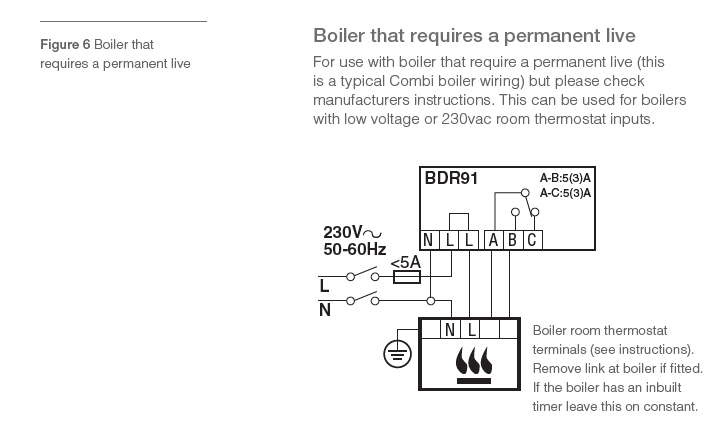 Bdr91 wiring on a biasi boiler diynot forums as the diagrams suggest the link n should be removed from the boiler and 1 3 should be connected to bdr91s a and b right asfbconference2016 Gallery