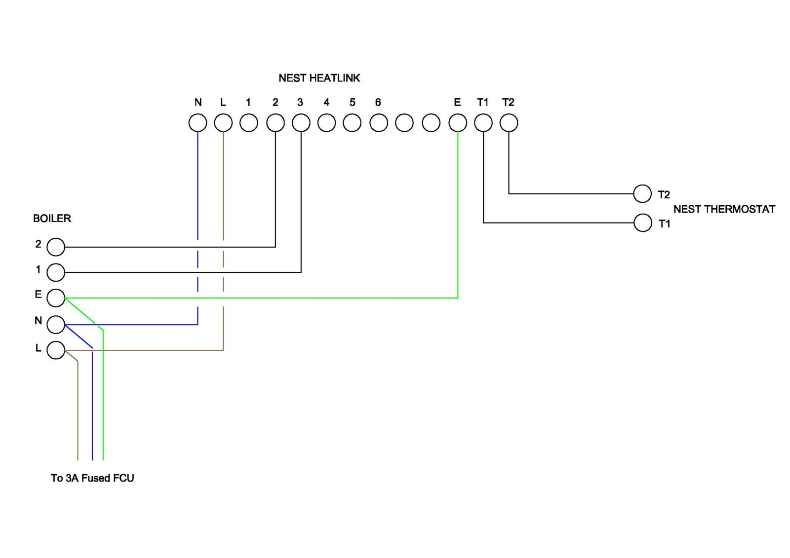 Swapping A Alpha Thermostat For Nest 3rd Generation Boilers Wiring Diagrams Diynot Forums