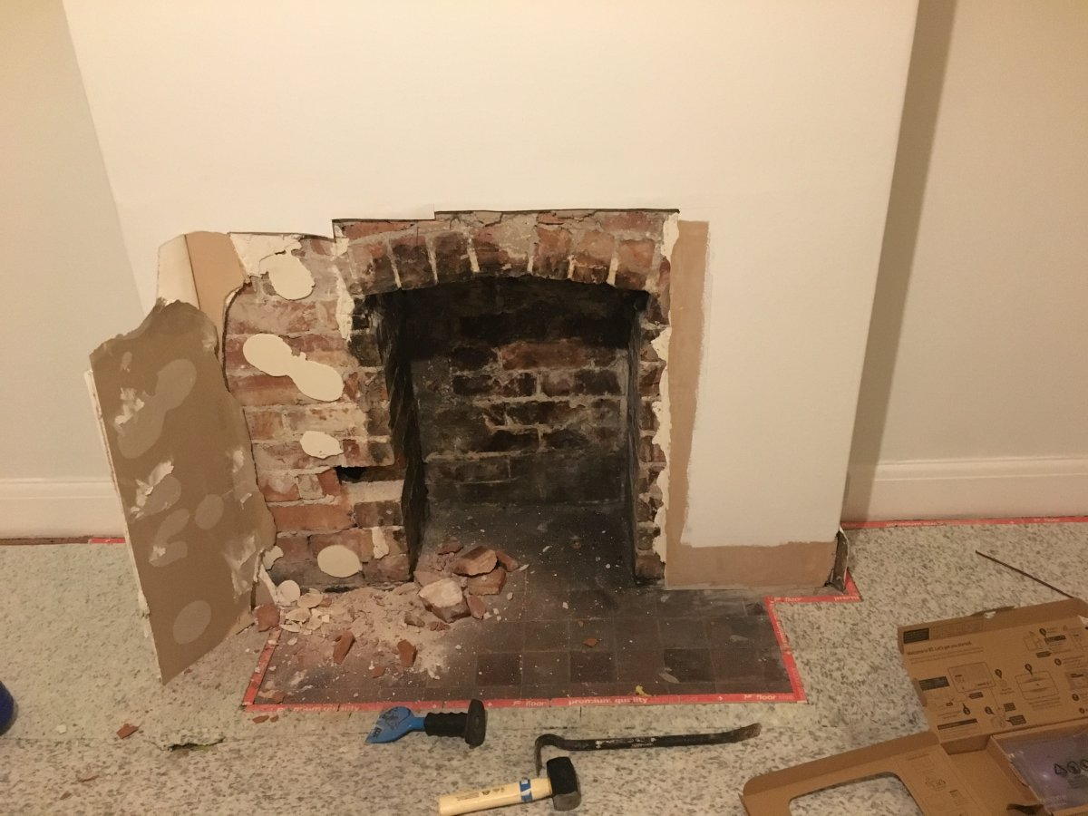 Widening original fireplace opening diynot forums i want to widen a fireplace opening that i have revealed to accommodate a wood burning stove the brick legs of the fire place are hollow right through to teraionfo