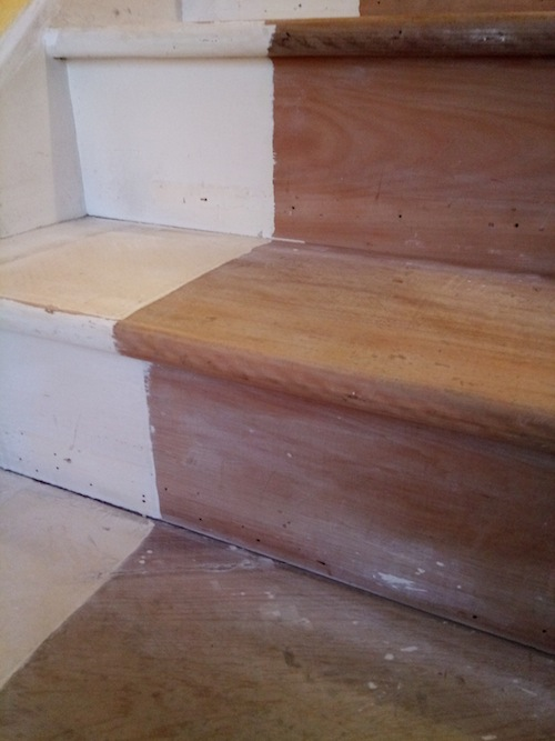 wood filler on stairs to be stain diynot forums. Black Bedroom Furniture Sets. Home Design Ideas