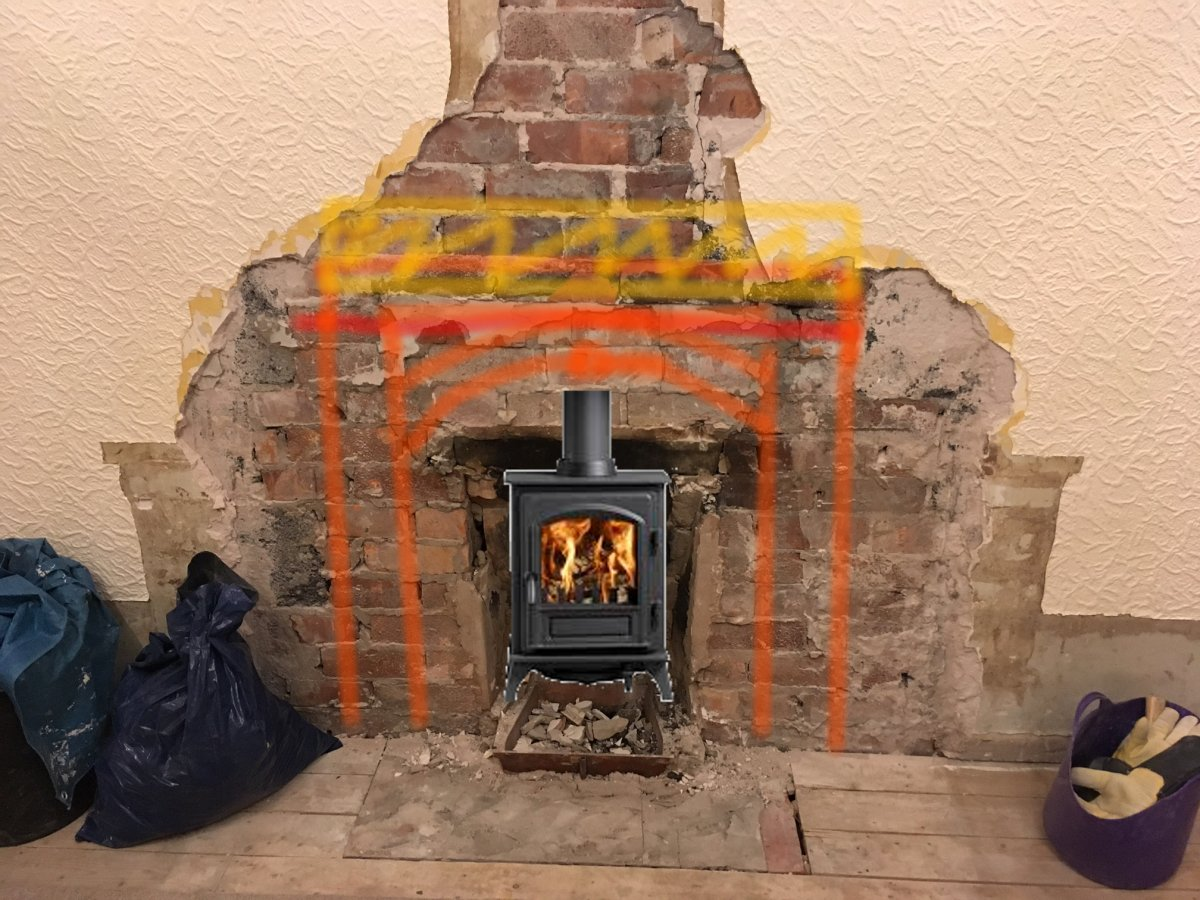 enlarge fireplace right approach diynot forums