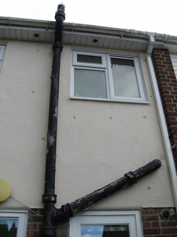 Painting A Peeling Possibly Asbestos Soil Pipe Diynot