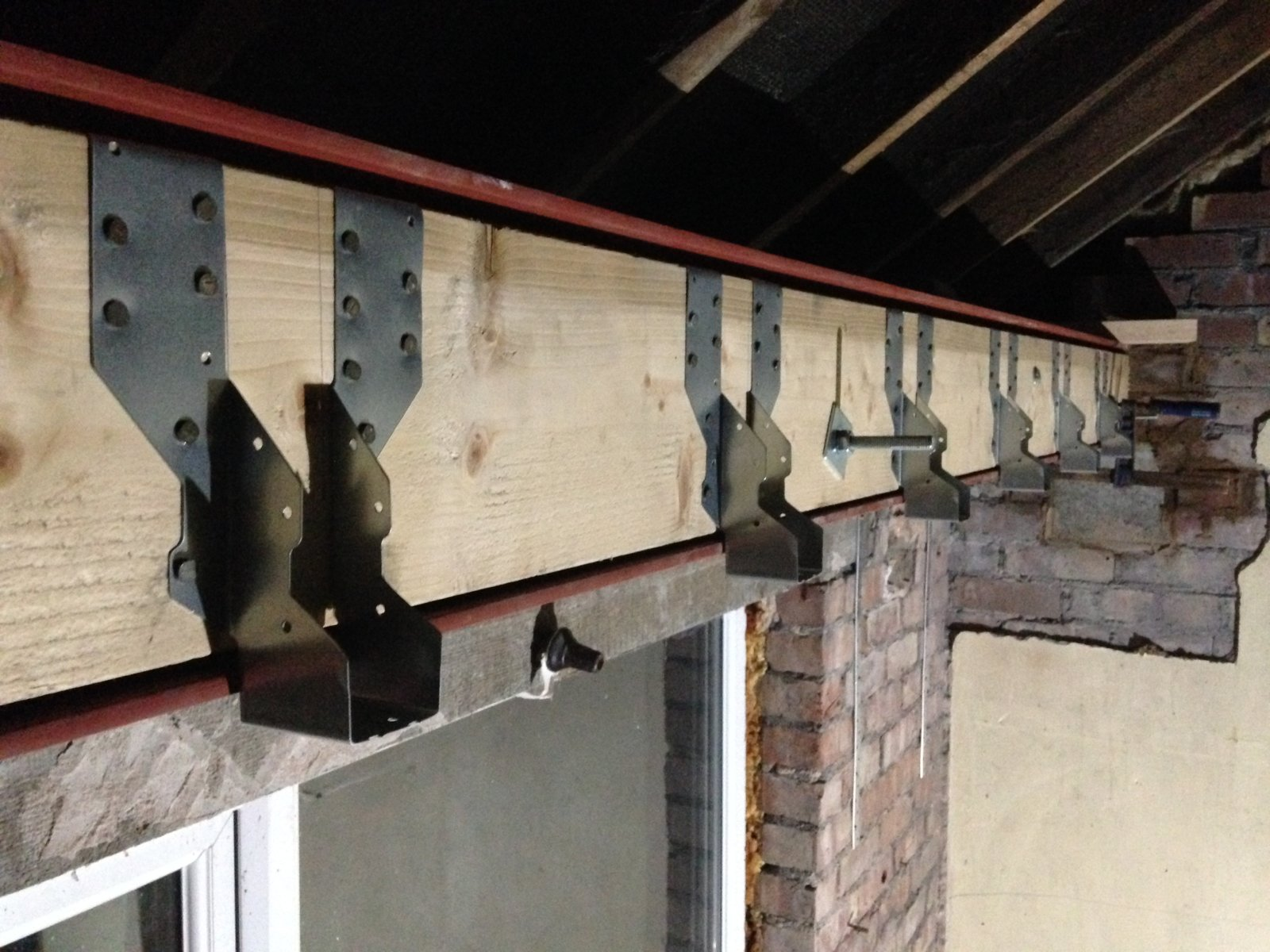 Joists Into Rsj Web Or Bolt On Wooden Bearer Diynot Forums