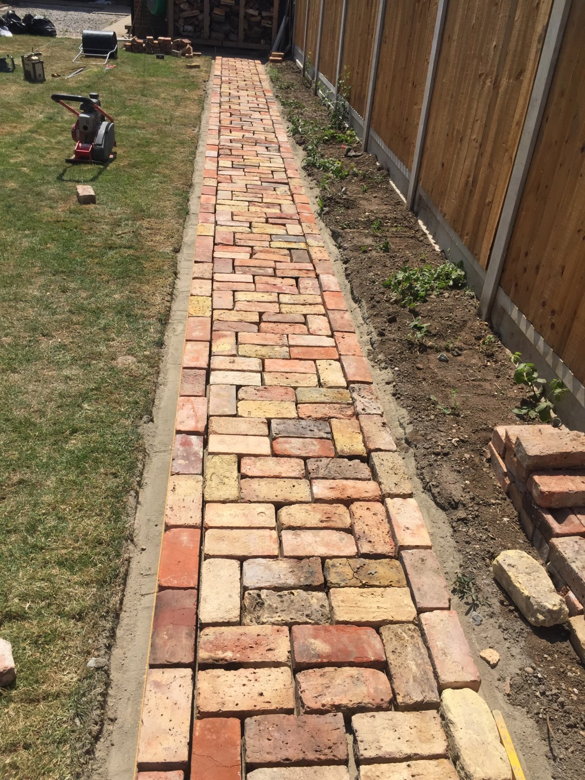 Reclaimed Brick Garden Path Pointing Ideas Diynot Forums