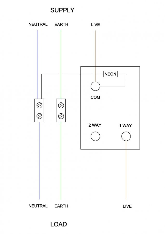 Wiring Up An External Light Switch With, Outdoor Light Switch Wiring Diagram Uk