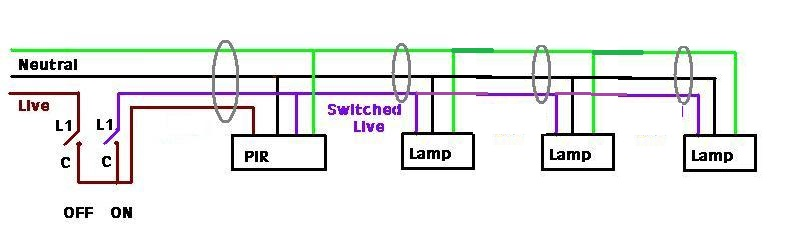 Fabulous Adding Existing Lights To Pir Sensor Diynot Forums Wiring Digital Resources Indicompassionincorg