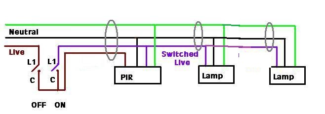 Wiring Diagram For Standalone Pir To Multiple Security