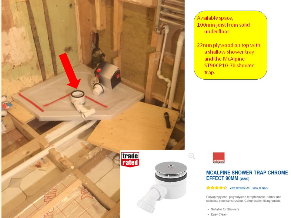 Shower Tray Waste Routing Diynot Forums
