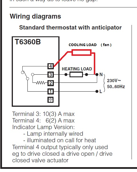 Honeywell T6360 stat for cooling | DIYnot Forums on