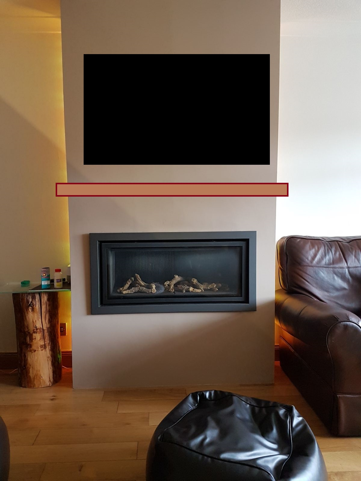Will There Be A Problem Mounting A Tv Above A Gas Fire On
