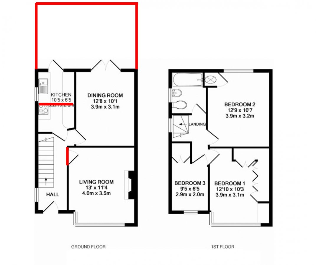 fire regs for single storey extension 2017
