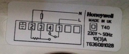 Thermostat Blue Wire >> Replacing a Honeywell T40 with five wires. | DIYnot Forums