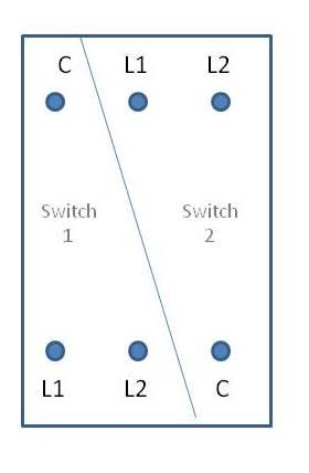 2 gang 2 way light switch replacing diynot forums4 Gang Switch Wiring Diagram #13