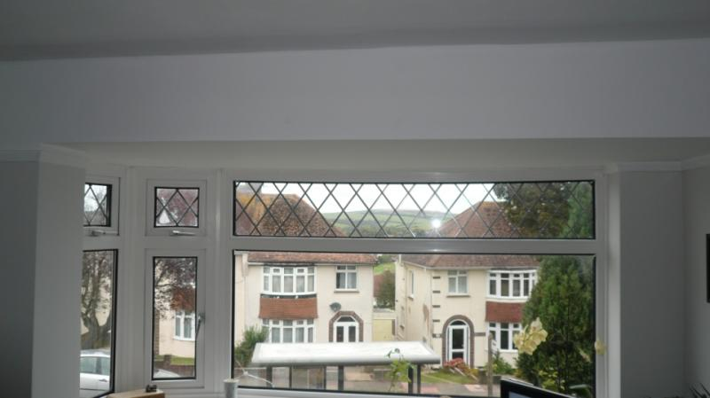 Curtain Rail In A Bay Window With A Flat Roof And No