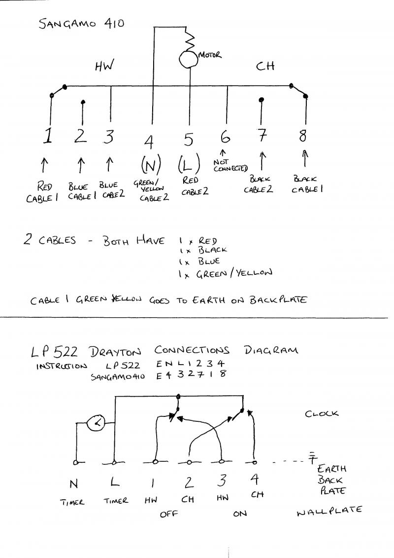 Drayton Central Heating Programmer Wiring Diagram : Replacing a sangamo with drayton lp diynot forums