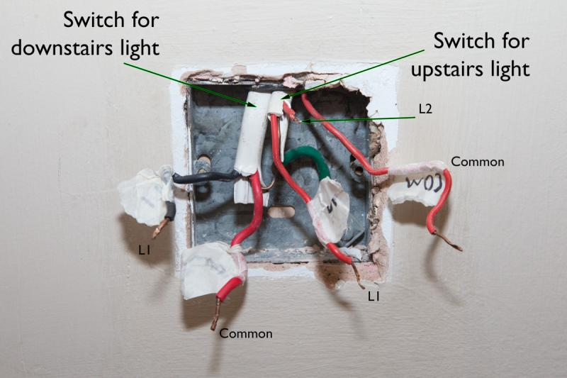 Downstairs Light Wiring