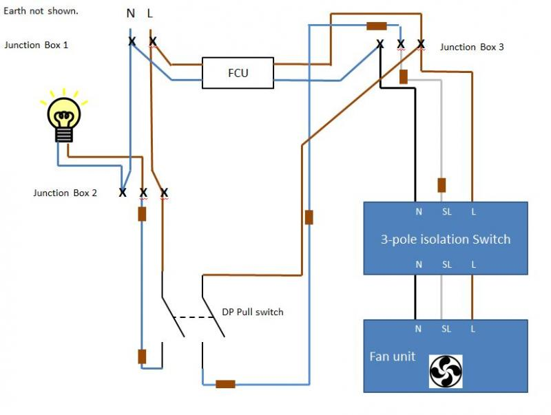 Extractor Fan Wiring Diagram : Fused timed extractor fan wiring diynot forums