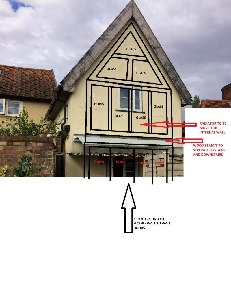 Gable end - glazing... can it be done? Cost? | DIYnot Forums