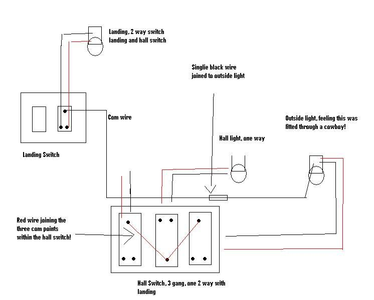 3 way switch wiring diagram red white black the best wiring strange wiring on a 3 gang light switch diynot forums swarovskicordoba Image collections