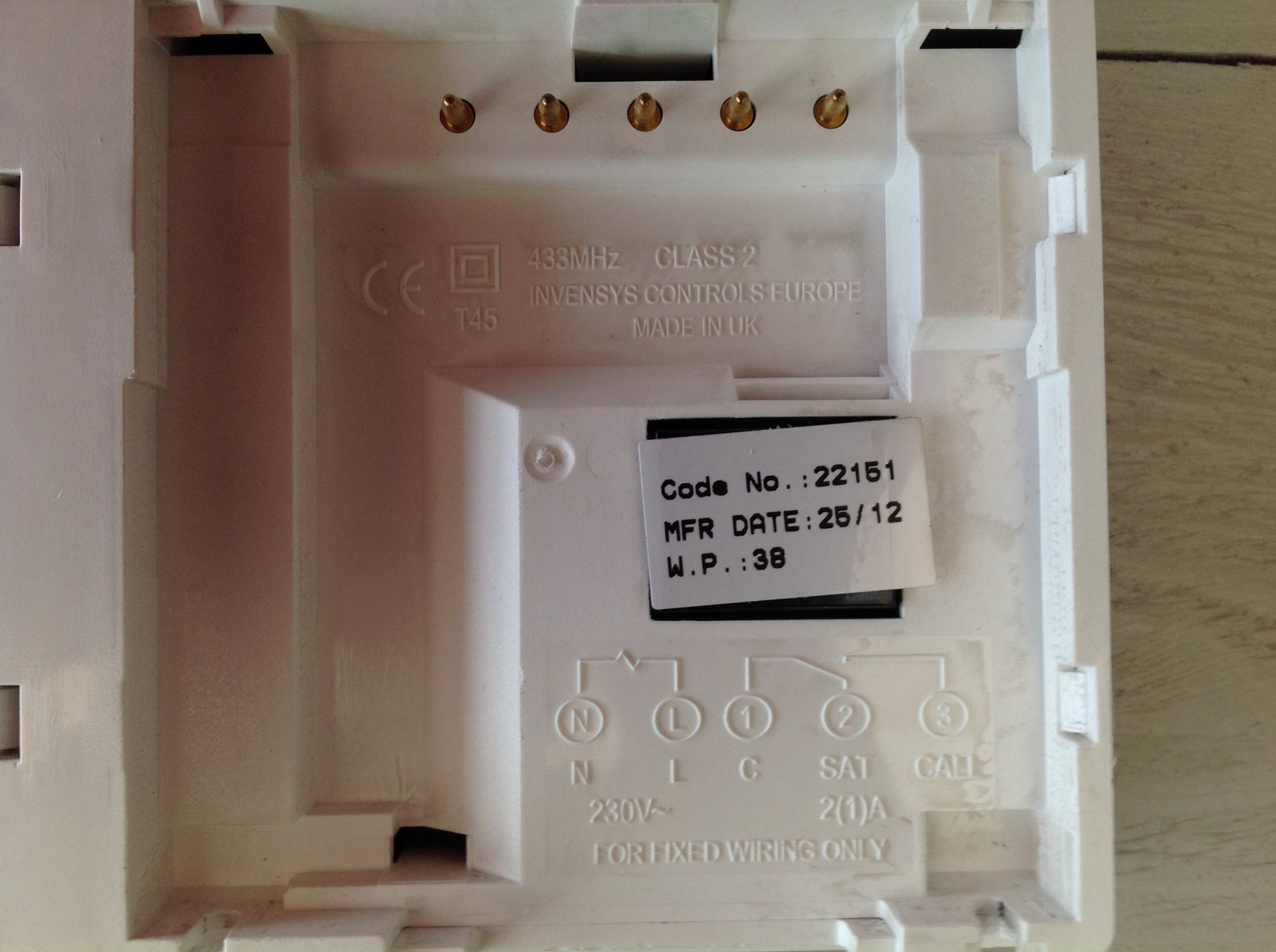full cant get wr1 wireless thermostat to work diynot forums british gas wr1 wiring diagram at soozxer.org