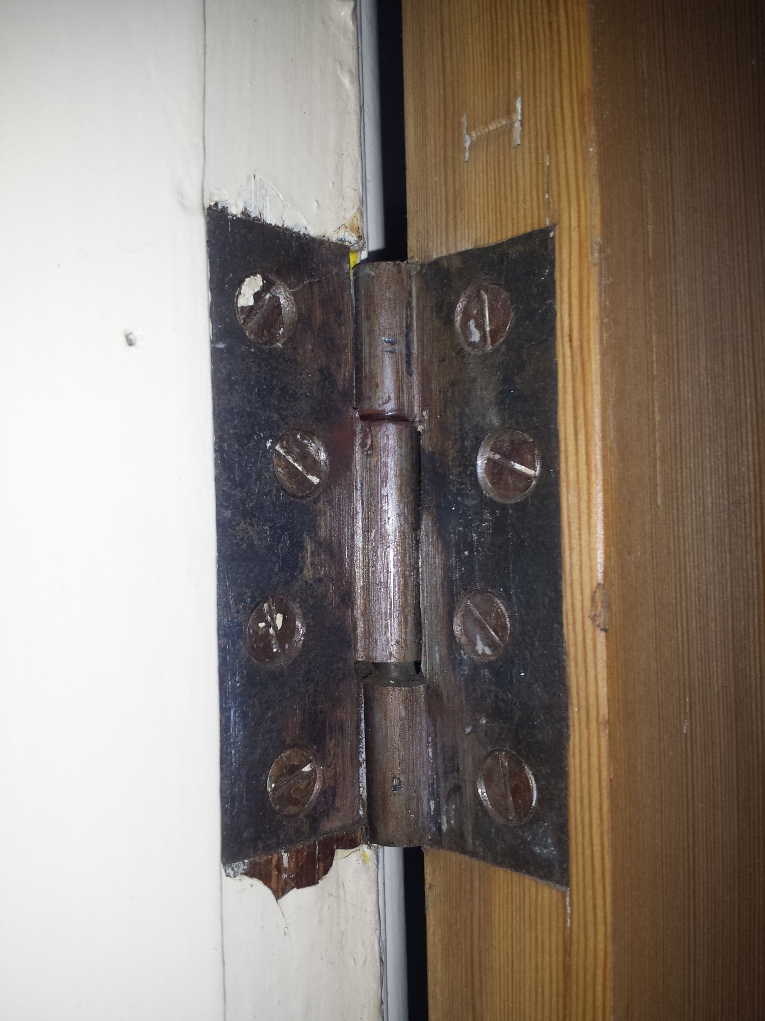 ...and This One Shows It With Me Lifting The Door Into The Position Where  It Should Be: