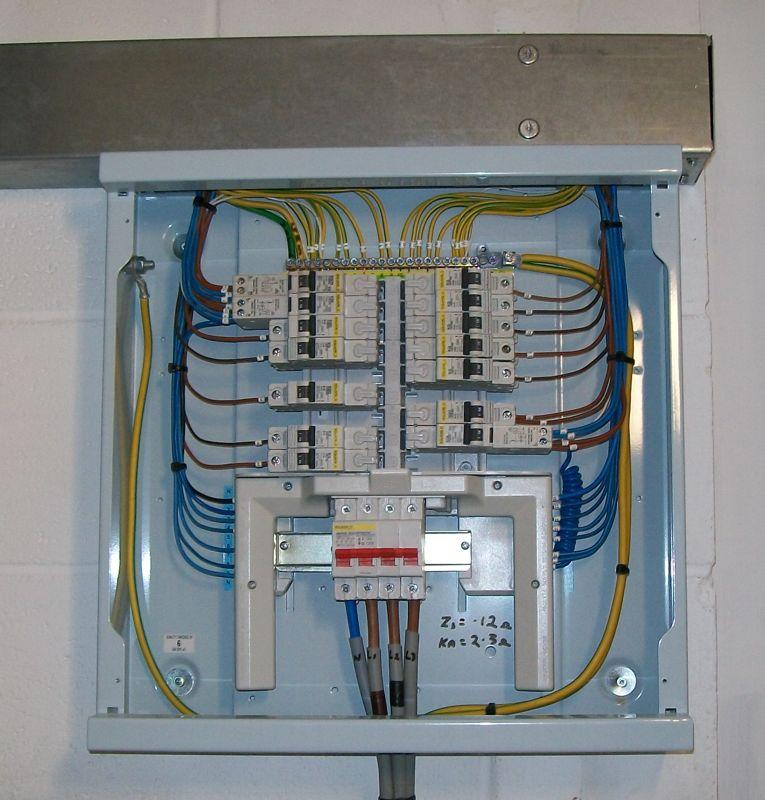 Full on distribution board wiring diagram