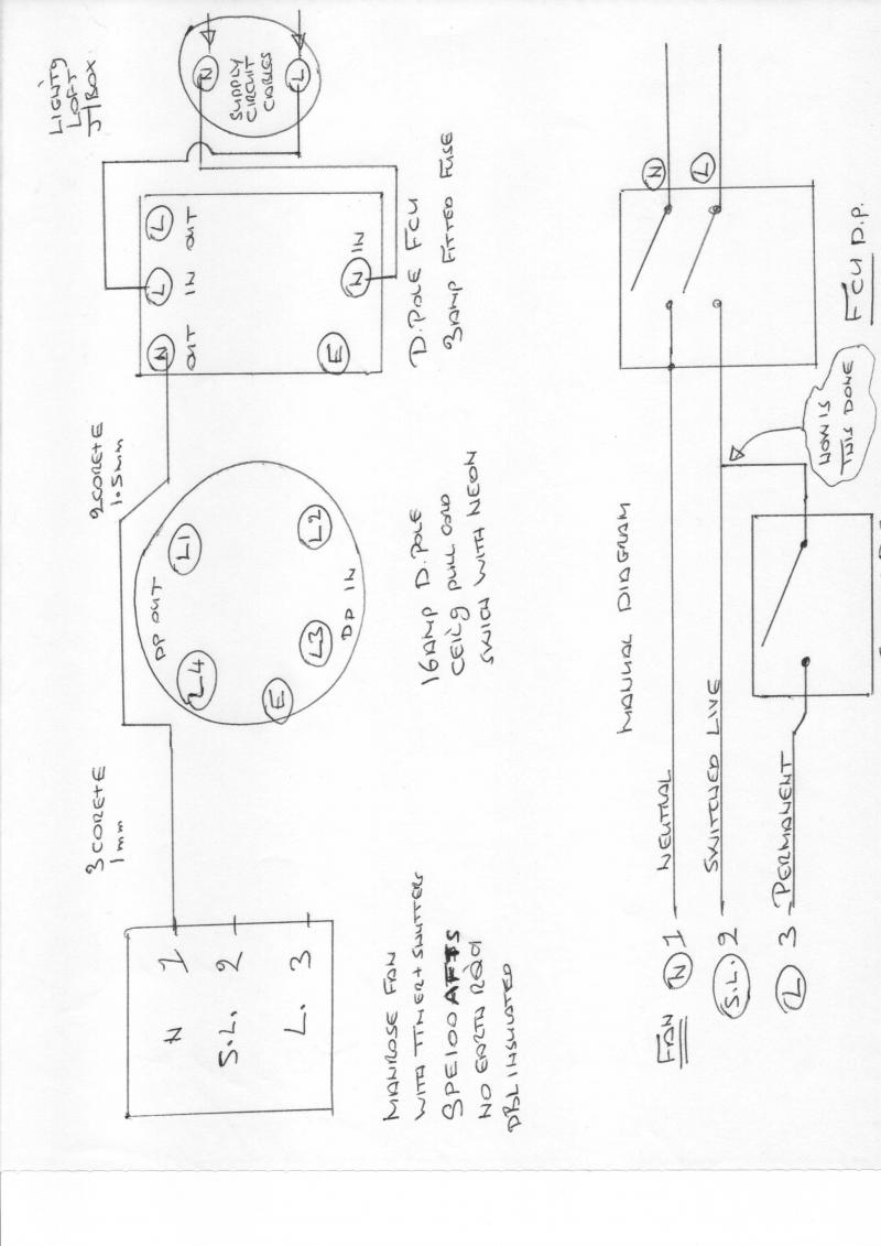 full manrose fan with timer and shutters diynot forums manrose inline fan wiring diagram at soozxer.org