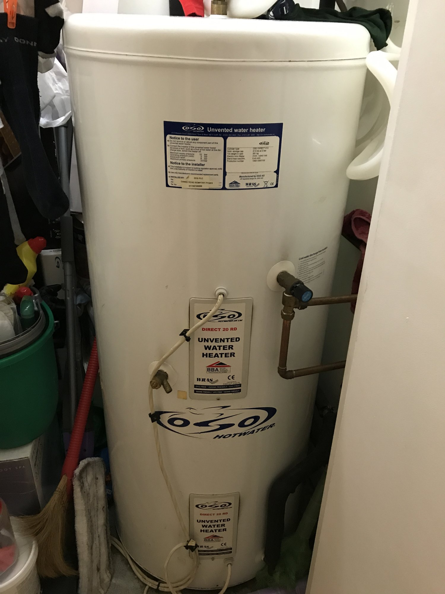 Most efficient water heating settings | DIYnot Forums