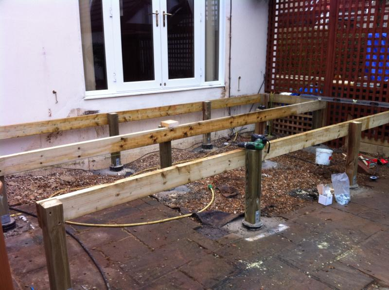 concrete pillars for deck + other questions | DIYnot Forums