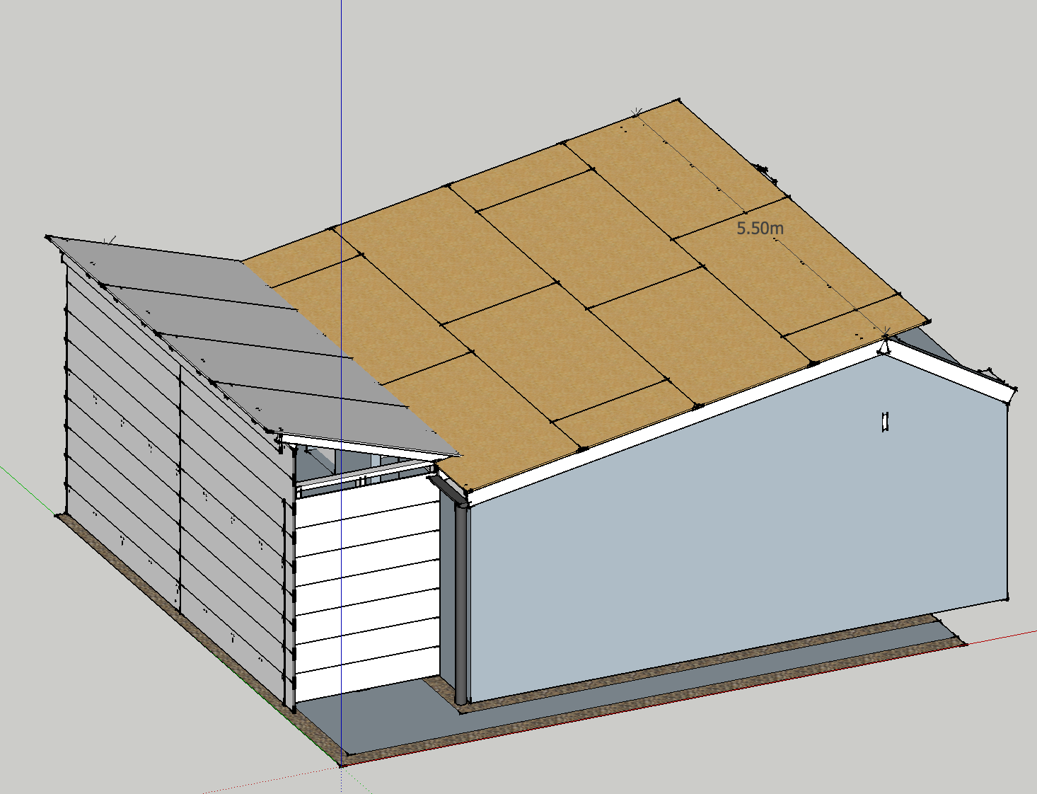 Garage Roof Renovation And Extension Valley Roof Detail
