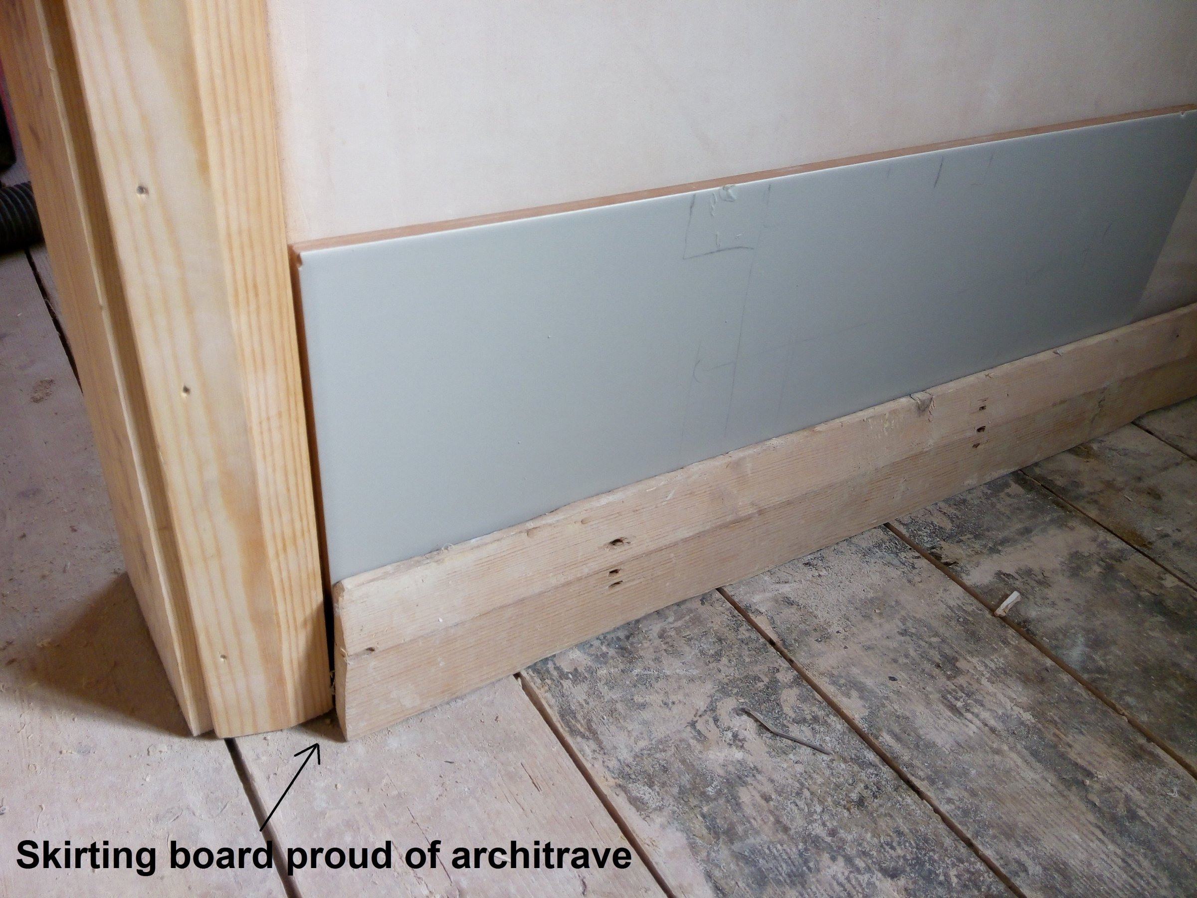 . Skirting board on tiled bathroom walls   DIYnot Forums