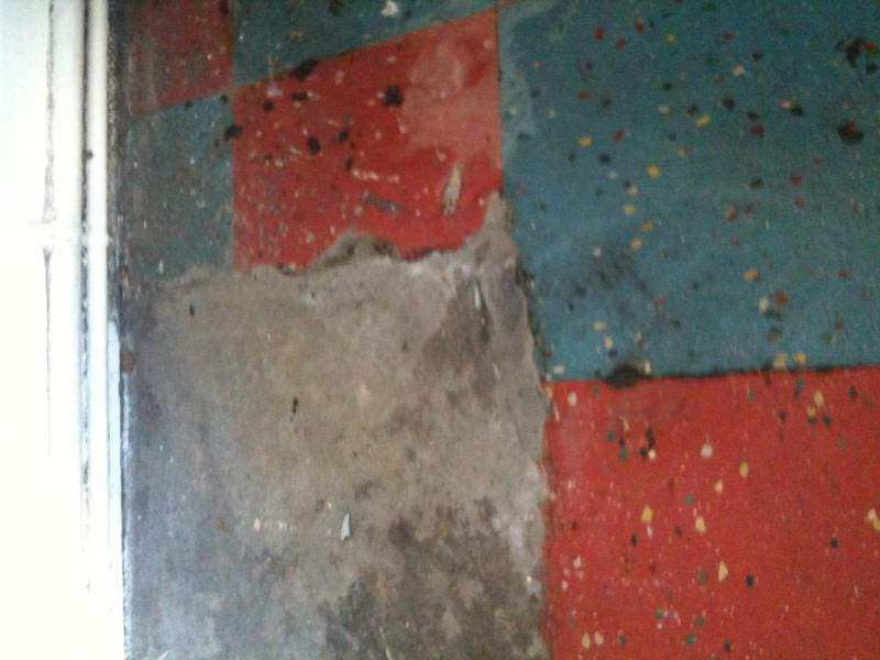 The Floor Was Uneven With One Area Concrete And Not Tiled As Below