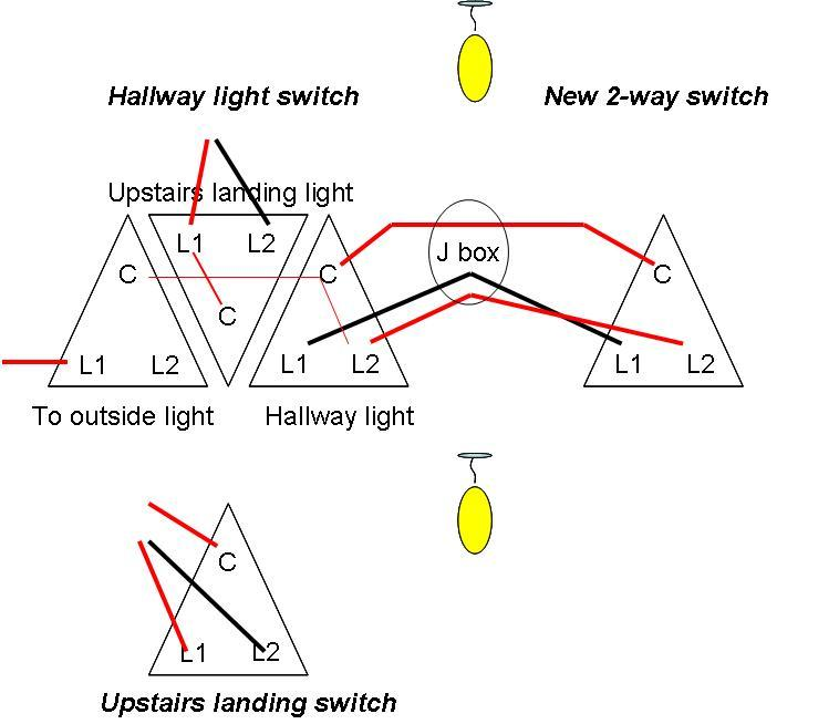 Adding extra light switch in hallway | DIYnot Forums