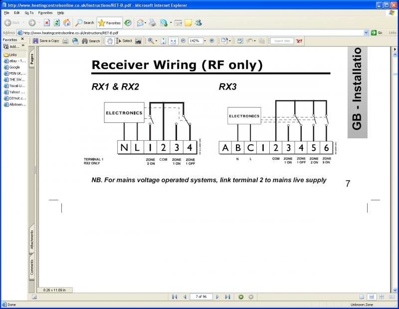 Wiring    RF    Room    Stat  Couple Of Questions   DIYnot Forums