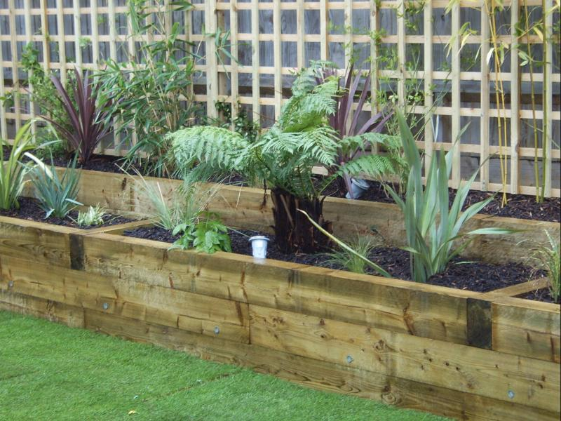 Bordering garden with sleepers. | DIYnot Forums