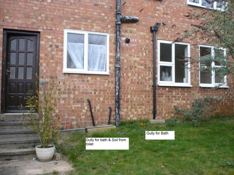 New drain diynot forums for Outside waste pipe