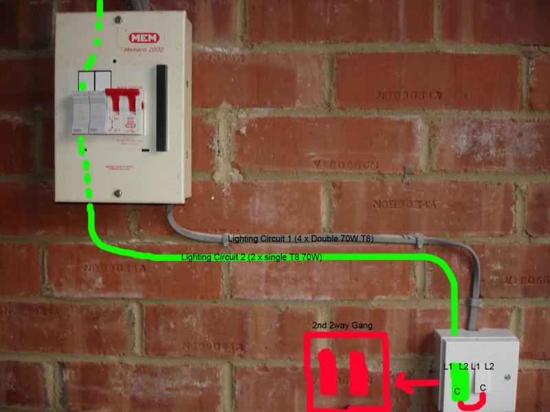 wiring up a garage lighting circuit diynot forums Garage Wiring Code thanks again