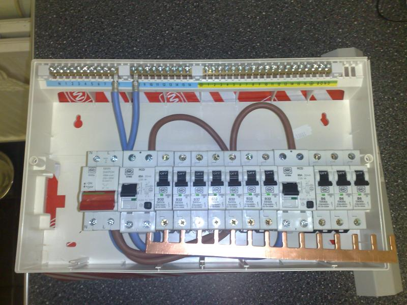full consumer unit dual rcd wiring from isolator diynot forums wylex rcbo wiring diagram at gsmportal.co