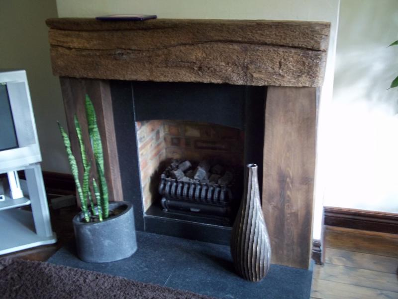 Reclaimed Railway Sleepers - Fireplace | DIYnot Forums