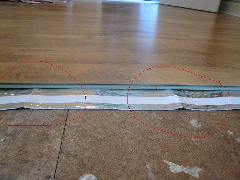 Can It Be The Underlay See Picture Attached Which Hasn T Flattened Yet Will Settle Down Eventually
