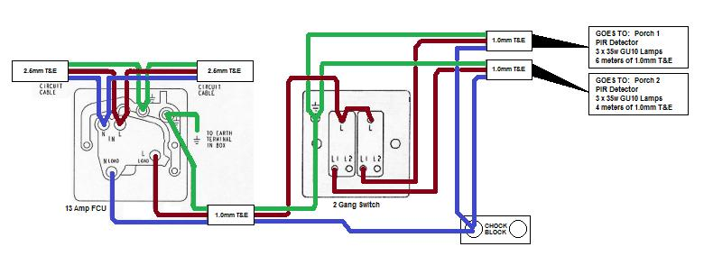 full  Gang Way Switch Wiring Diagram on