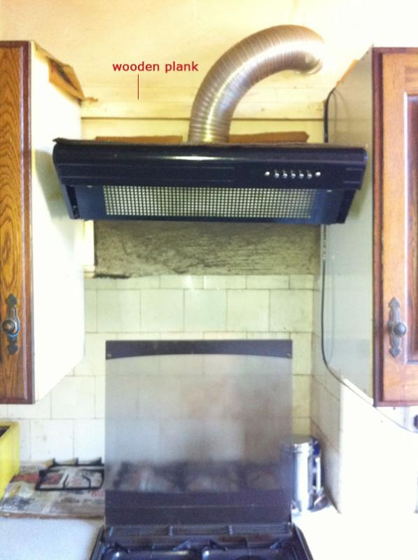 Is It Ok To Mount Cooker Hood On Wooden Plank Diynot Forums