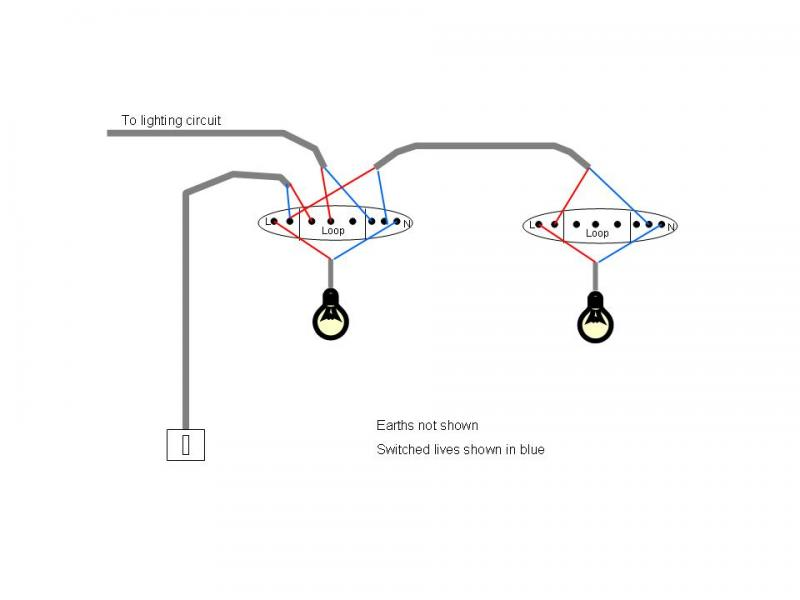 2 lights from single switch
