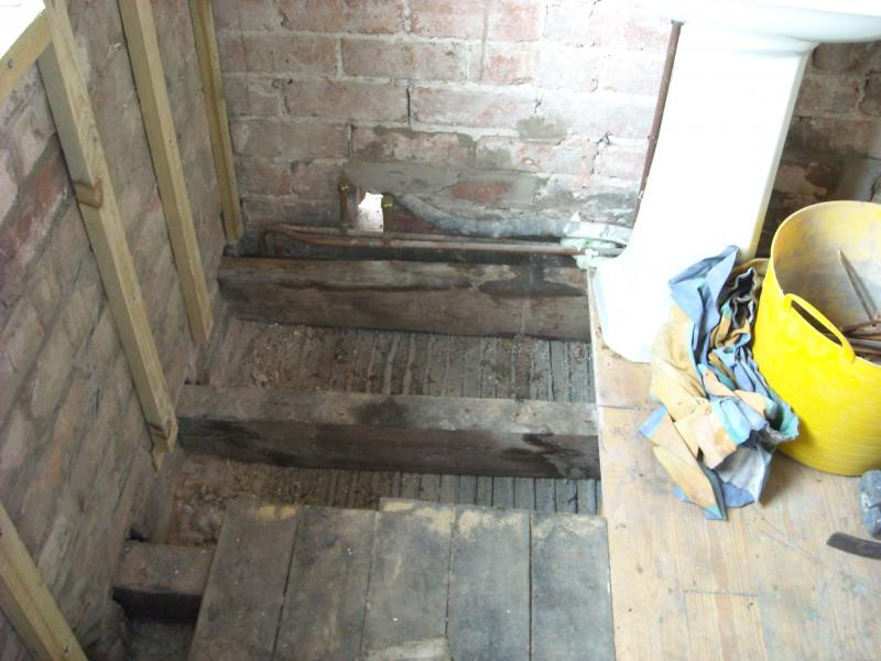 Some Dry Rot In A Bathroom Floor Joist Diynot Forums