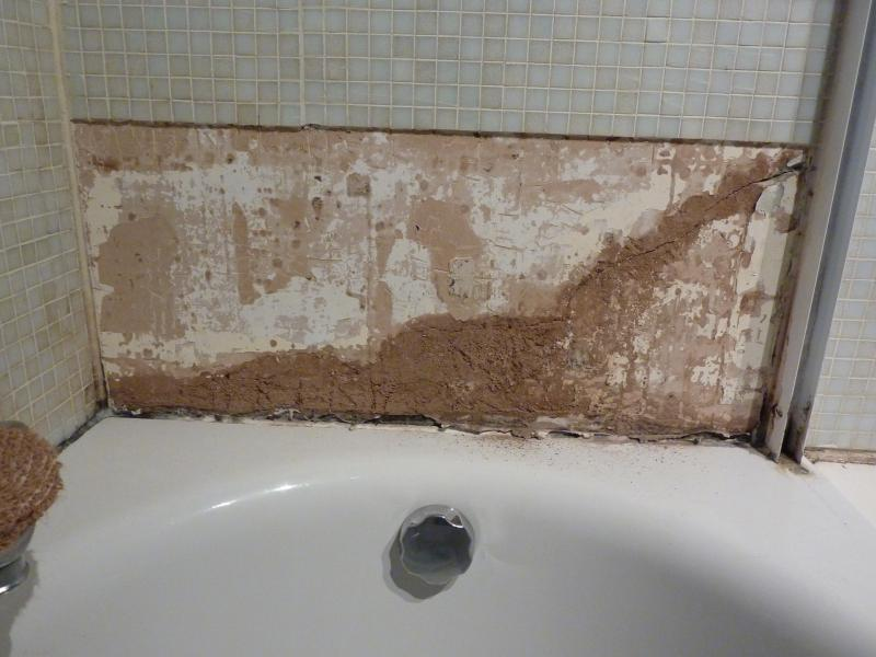 Advice repairing plaster and re-tiling bath area   DIYnot Forums