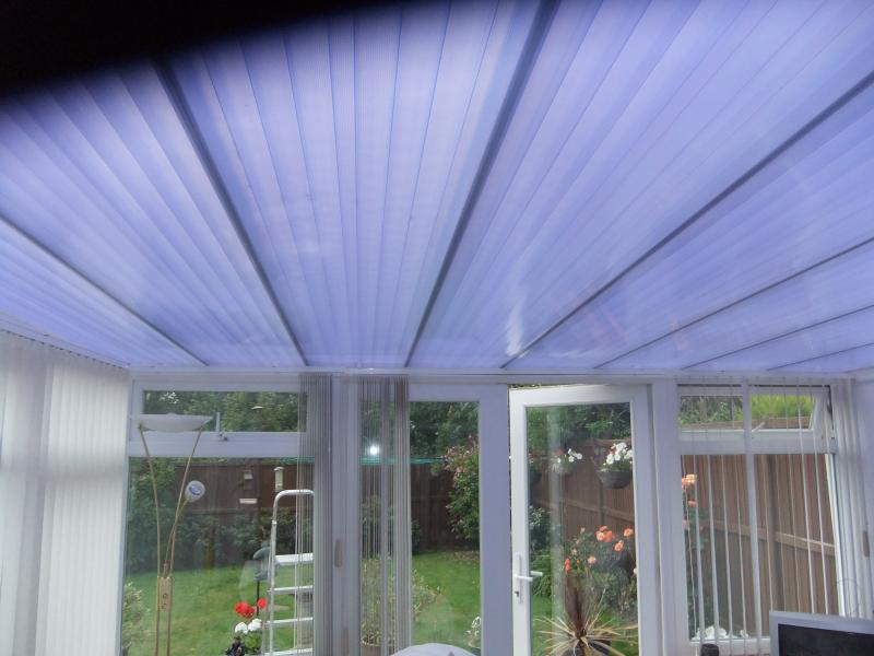 Polycarbonate Roof Covering Lean To Conservatory