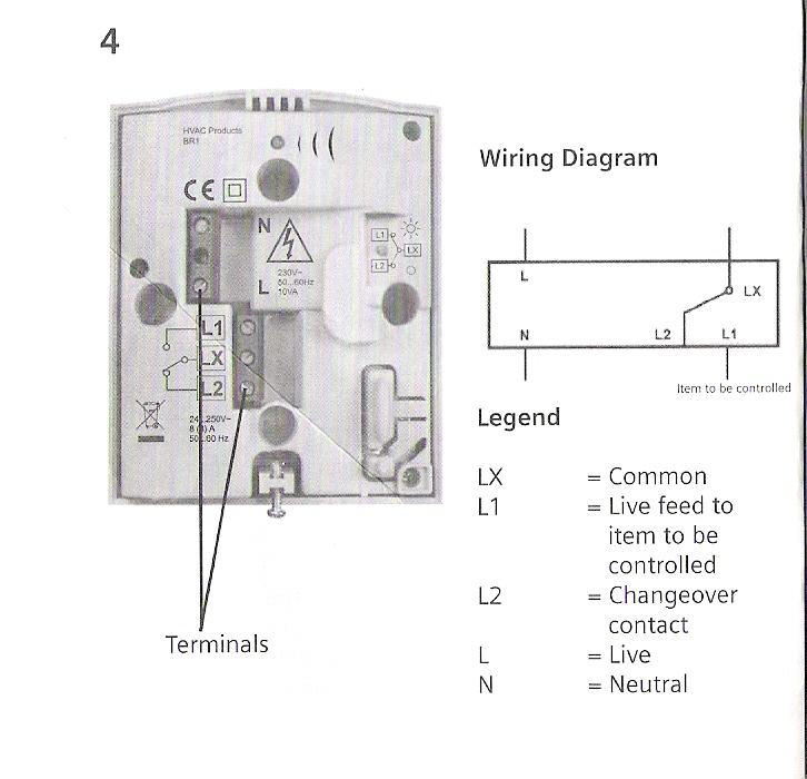 Wiring Diagram Wireless Thermostat : Wireless thermostat diynot forums